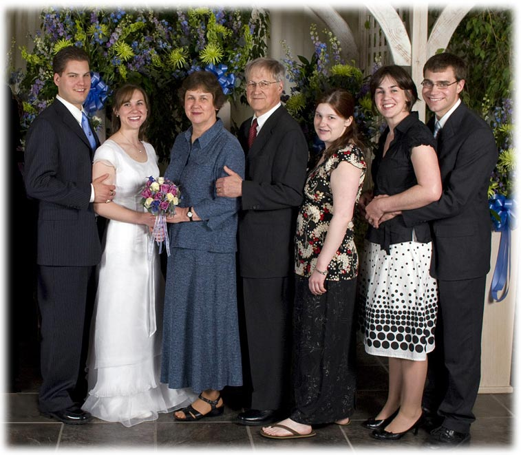 [Miller Family at wedding]