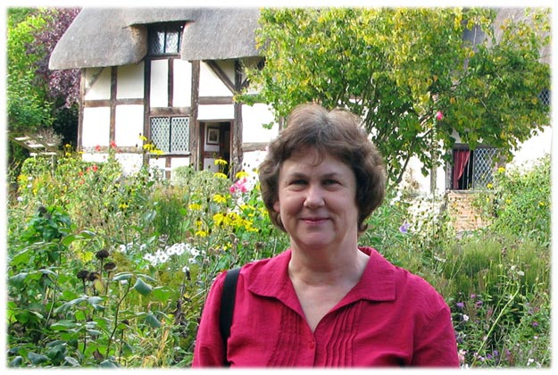 [Kathy at Anne Hathaway's Cottage]