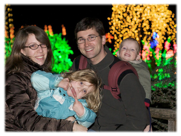 [Robert's Family see the Zoo Lights]